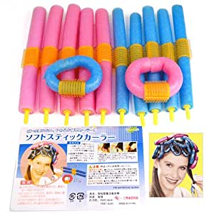 the wrap up hair styling sponge magic hairstyle design kits 12xsoft twisty foam benders 6252