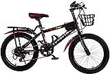 Bicicletta per giovani Pedali maschili e femminili Biciclette Studenti della scuola media Scuola elementare Bici da strada Mountain bike per bambini a velocità variabile da 20/18 pollici (Colore: