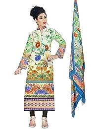 BalajiWomen's Cotton Unstitched dress material(1003-multicolor-free size)