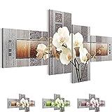 Bilder 200 x 100 cm - Orchidee - Vlies Leinwand - Kunstdrucke -Wandbild - XXL Format – mehrere Farben und Größen im Shop - Fertig Aufgespannt !!! 100% MADE IN GERMANY !!! - Blume – Abstrakt 204641a