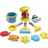 YAVSO Sandspielzeug, 11er Sandkasten Spielzeug Strandspielzeug mit Sandform,...