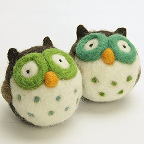 Woolbuddy Handmade Needle Felting Owl Kit -