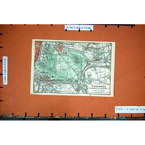 PIANIFICAZIONE 1878 DELLA FRANCIA DELLA MAPPA VINCENNES