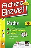 Fiches Brevet: Maths 3e