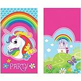 Amscan 8 Einladungskarten  Regenbogen Einhorn  für Kindergeburtstag und Motto-Party // Einladungen Unicorn
