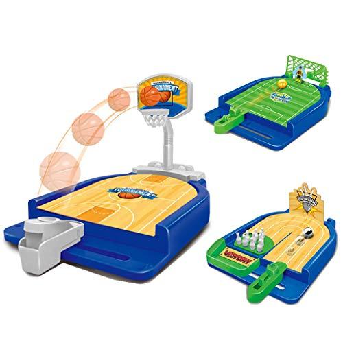Lernspielzeug 1 Satz Mini Finger Katapult Schießen Basketball Fußball Bowling Desktop Kinder 06.23 (Color : A+b+c)