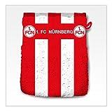 1.FC Nürnberg Waschhandschuh Blockstreifen 16/21 cm Waschlappen Fanartikel