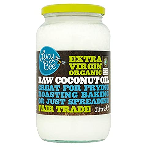 100% Pure Natural Raw Virgin Organic Coconut Oil Hair Skin Nails Cooking 1 Litre