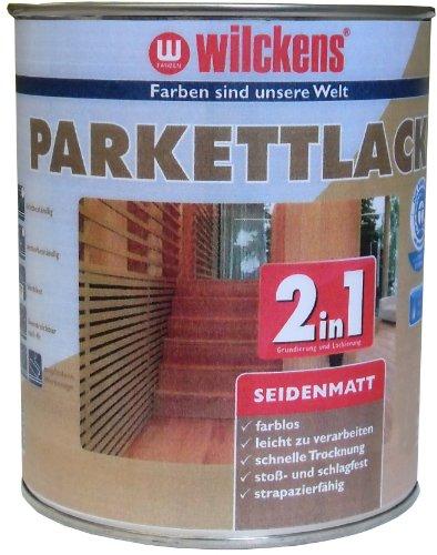 Preisvergleich Produktbild Wilckens 2in1 Parkettlack seidenmatt, farblos, 2,5 Liter 12400100080