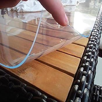 Transparente PVC-Glasfolie 800 x 2,5 mm (Meterware