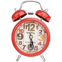 Richi 1pc LED Twin Bell Reloj despertador silencioso despertador de metal de aleación reloj de mesita de noche mesa Decor