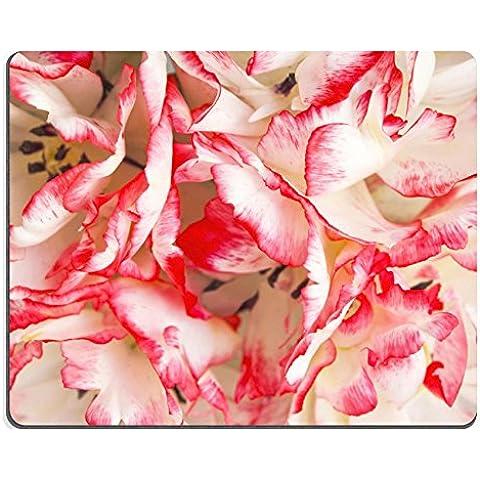 MSD-Tappetino per mouse in gomma naturale, gioco immagine ID 26791058 tulipani petali colorati in dettaglio come sfondo