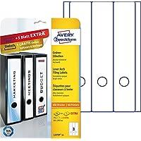 Avery L4759-25 - Etiquetas para archivadores, color blanco