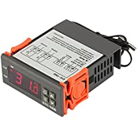 JZK® Digital 220V Thermostatregler Mikrocomputer Allzweck-Temperaturregler STC-1000 mit 2m Sensor R1BO