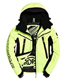 Superdry Downhill Racer Padded Chaqueta, Hombre, Rescue Yellow/Black, Small