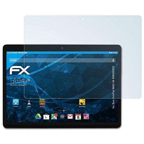 atFolix Schutzfolie kompatibel mit Xoro TelePad 96A3 4G XOR400503 Folie, ultraklare FX Bildschirmschutzfolie (2X)