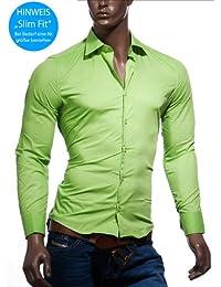 [NEU] Sportives Gentleman Basic Hemd Kent Kragen Langarm Longsleeve Shirt grün S