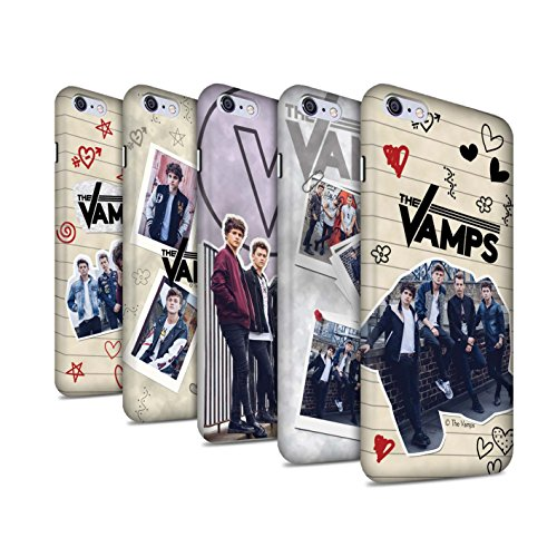 Offiziell The Vamps Hülle / Matte Snap-On Case für Apple iPhone 6S+/Plus / Pack 5Pcs Muster / The Vamps Doodle Buch Kollektion Pack 5Pcs
