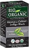 Henna-Haarfärbemittel, 100% Bio, dreifach gesiebtes mikrofeines Pulver (Indigo schwarz)