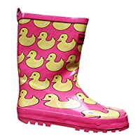 i-Smalls Girls Pink Duck Funky Wellies
