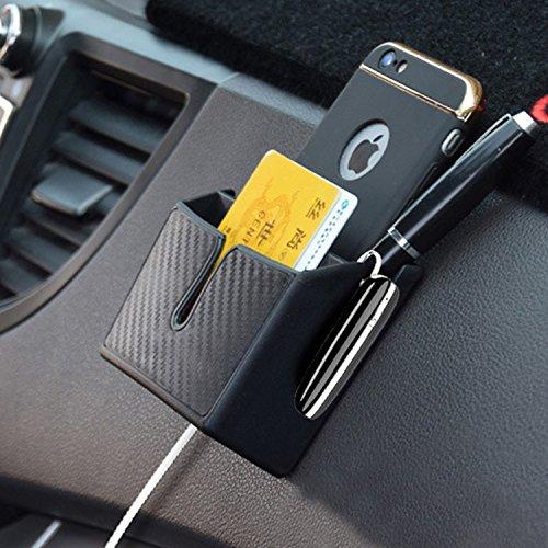 Raiphy Multifonctionnel Boîte de rangement de Voiture Organisateur de voiture pour le téléphone portable, clé, Carte de stationnement, Argent de poche, Câble de casque, Stylo, etc -2