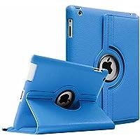 Fintie iPad 4 / 3 / 2 Funda - Giratoria 360 Grados Smart Case Funda Carcasa con Función y Auto-Sueño / Estela para Apple iPad 4 / iPad 3 / iPad 2, Azul