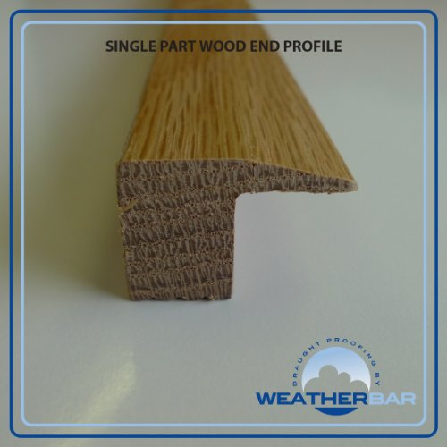 Solid Oak Lacquered End Flooring Profile, Threshold/Cover Strip, Door Bar, Suitable for 18mm Floors by Weatherbar (Wood Flooring Strips)