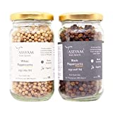 #3: Tassyam Peppercorns Combo 200 Grams (100g Each White and Black Peppercorns) | Kali & Safed Mirch Bottles