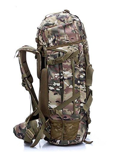 All'aperto alpinismo borsa sport tuta mimetica zaino borsa grande bagagli viaggio Trek zaino 80L , cp camouflage cp camouflage