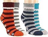Vitasox 14481 Damen Socken Stoppersocken Wollsocken mit Umschlag und ABS 2er Pack marine&blau 39/42
