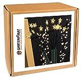 Gartenstäbe 3x mit 18x LED-Stern für Garten Sternenstäbe Weihnachten