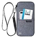 Reiseorganizer Tasche Ausweistasche mit RFID Blocker -Evershop Wasserdicht Reisedokumententasche Reisepass Tasche mit Handschlaufe für Pass, Kreditkarten, Flugkarten,Münzen und andere Reise-Zubehör