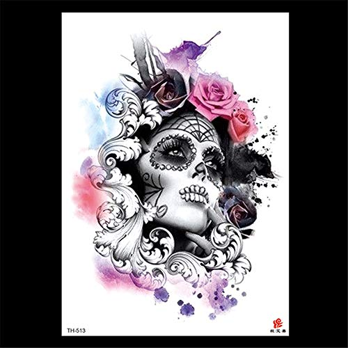 zgmtj 2019 Neue Blume Arm Rose wasserdicht dauerhaft Tattoo Aufkleber benutzerdefiniertes Muster TH-513 148 * 210MM Alte Rose Fine China