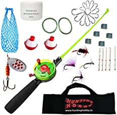 Hunting Hobby Mini Ice Fishing Complete Kit of Rod, Reel and Accessories (Ice_Fishing)