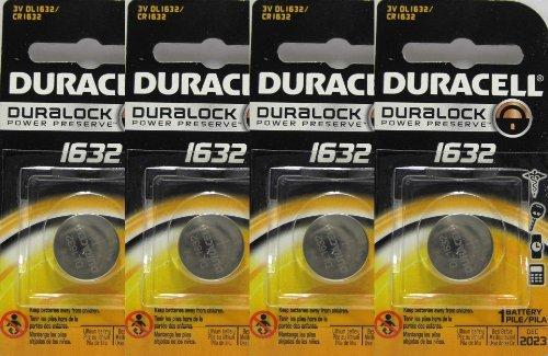 4 Stück Fresh Duracell Lithium Batterie ECR1632 CR1632 1632 3V Batterie DL Verbraucher Gadgets Tragbare Elektronikgeräte