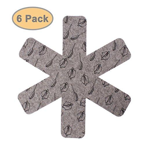confronta il prezzo ZeWoo Craft Pan Protettori, set di 6 – grigio miglior prezzo