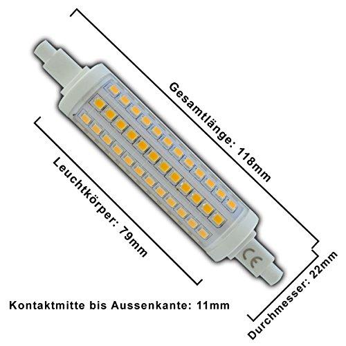 R7s LED 10 Watt rund 118mm dimmbar 108x SMDs warmweiß/tageslichtweiß Strahler A+ Leuchtmittel Lampe Halogen j118 Fluter Standleuchte Brenner Scheinwerfer …
