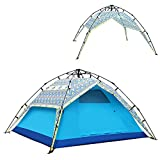 QFFL zhangpeng Zelt-verdickender Regen-freie Zelte beschleunigen offenes automatisches Zelt im Freien, das 3-4 Zelte 8 Farben optional kampiert Tunnelzelte