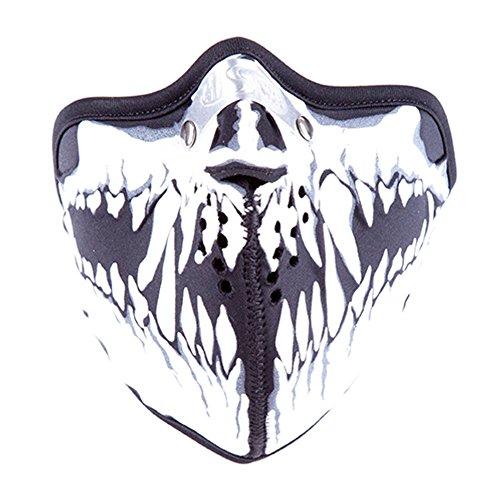 Windmaske Totenkopf Maske Kunstledermaske Sturmmaske Steampunk Tarnmaske Skimaske (21967-9004-0000)