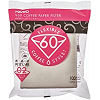 Hario VCF-02-100W 1-Piece Paper Count Coffee Filter, White