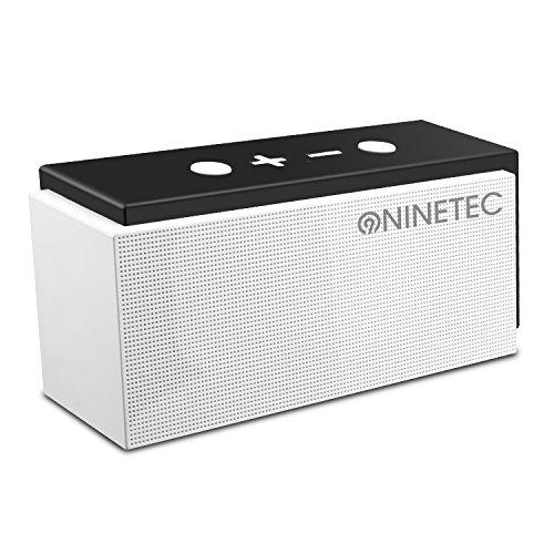 NINETEC SuperSonic 10 Watt Bluetooth 4.0 Speaker mit FM-Radio AUX TF-Karte und Freisprechfunktion Weiß