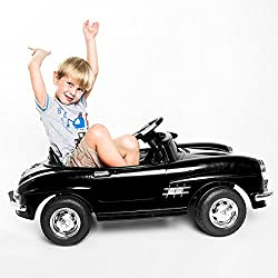 FDS Elektroauto Kinderauto Elektrofahrzeug MP3 Fernbedienung für Kinder Mercedes-Benz 300SL Schwarz mit Fernsteuerung (Schwarz)