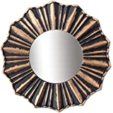 Art Street Copper Decorative Wall Mirror (Set Of 3)(Size - 9 X 9 Inch)