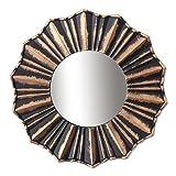 #8: Art Street Copper Decorative Wall Mirror (Set of 3)(Size - 9 x 9 inch)