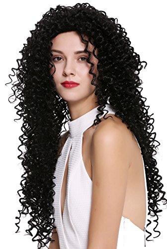 WIG ME UP ® - DW2315-1B Peluca mujer largo denso rizado rizos estilo afro caribeño negro