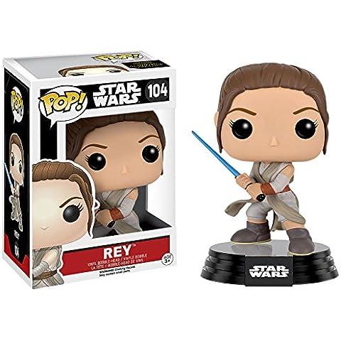 Figura Star Wars Episode VII Pop! Vinyl Bobble-Head Rey con Espada Láser