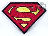 # 12Superman Logo DC Comic Super Hero Eisen/Nähen auf bestickt Patch