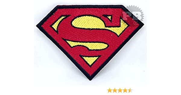 Superman Patch Iron Sew On Embroidered Badge Logo Emblem Symbol Film Movie Toy