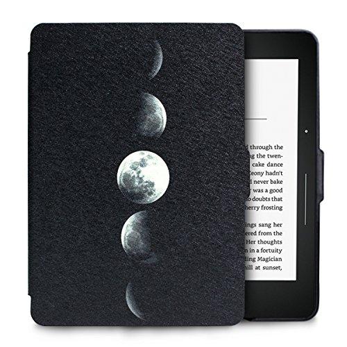 WALNEW Amazon Kindle Voyage Hülle, Leichteste und Dünnste Hochwertige Lederhülle für Kindle Voyage mit Automatischer Aufwach/Ruhe-Funktion