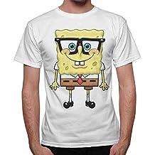 thedifferent Camiseta hombre Bob Esponja Cartoon Esponja – Blanco